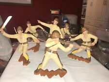 """MARX SIX INCH (6"""") JAPANESE SOLDIERS WWII FULL SET OF SIX (6) PAINTED"""