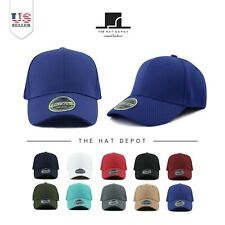 The Hat Depot Men's  Stretch Fit Flex Elastic Mesh Fitted Baseball Cap