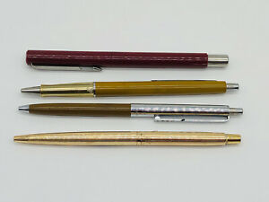 VINTAGE PARKER CLASSIC INSIGNIA ROLLED GOLD BALLPOINT + OTHERS INC FOUNTAIN PEN