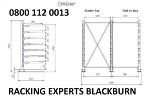 New Single Sided Cantilever Racking / Includes Free Installation