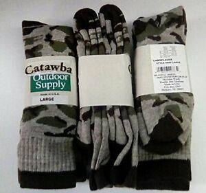 Catawba Outdoor Supply Camo Merino Wool Boot Sock, Large, 2 pair $14.99