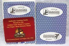 Vintage Golden Gate Hotel Casino Las Vegas deck of playing cards unsealed