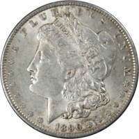 1890 $1 Morgan Silver Dollar US Coin AU About Uncirculated