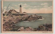 Maine Me Postcard c1910 PORTLAND Fold Out 10View Collection Light house DEPOT