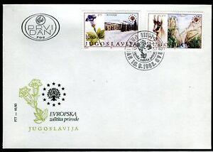 2001 - Yugoslavia 1983 - European Nature Protection - Flowers - Chamois - FDC