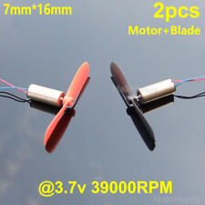 2set DC3.7V 7*20MM Mini Model Helicopter Coreless DC Motor with Propeller WQZY
