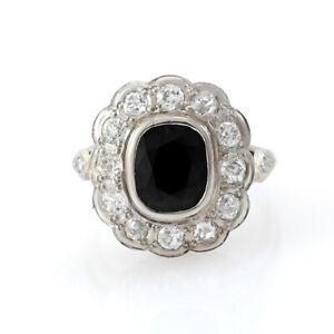 PLATINUM, BLUE SAPPHIRE AND DIAMONDS LADY DIANA MODEL RING ( 2.35 CT SAPPHIRE)