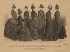 UNBEKANNT (19.Jhd), Pariser Damenmode, Reisekleider mit Turnüre,  1885, HSt.
