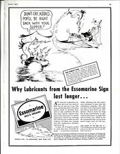 May, 1937. Dr Seuss Art, Esso Marine Ad. Removed From A Yachting Magazine.
