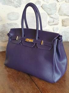 Grand Sac Violet type Birkin TBE