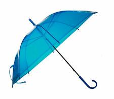 Regenschirm regen Schirm transparent blau Ca. 83cm
