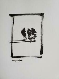 JOSE TRUJILLO - Expressionism Pen Ink Paper 6x8 Modern Abstract Figures Minimal