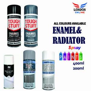 Spray Paint Aerosol Household Appliance Radiator Grey, White Gloss 400ml/200ml