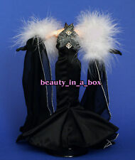 Starlet Vogue Black Evening Gown Period Fashion for Barbie Doll Q
