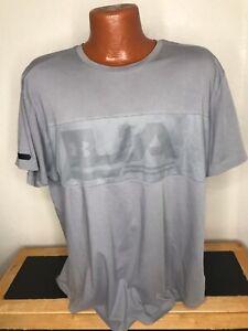 Men's Under Armour  S/S Athletic Shirt Size 2XL (XXL) Gray - Cotton / Poly