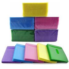 100pcs CD DVD Disc Double Side Cover Storage Case Plastic Bag Sleeve Holder Pack