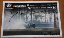 2015 Jhonnattan Castro signed E3 Spark Plugs Nissan 370Z Formula Drift postcard