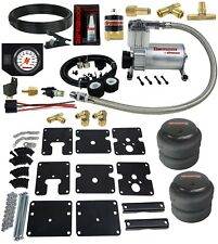 Air Tow Assist Kit 1999-06 Chevy Silverado 1500 White Gauge & Air Compressor