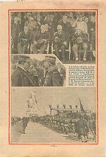 Édouard Herriot Général Weygand Maréchal Pétain Albert Lebrun 1932 ILLUSTRATION