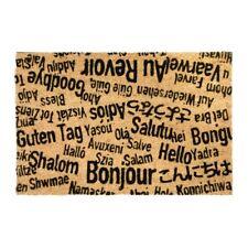 Language Slogans Coir Rubber Front Door Mat Outdoor Indoor Mats Novelty Matt UK