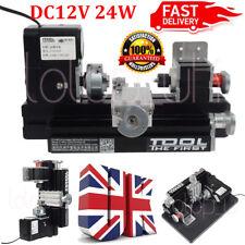 DC12V 24W Mini Metall Drehbank Drehmaschine Lathe DIY Model Woodworking Tools UK