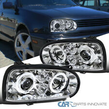 Fit 93-98 VW Golf Mk3 95-98 Cabrio Clear Halo Projector Headlights Driving Lamps