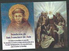 Estampa de San Francisco de Asis andachtsbild santino holy card santini