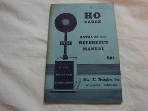 1950 Walthers Catalog and Reference Manual HO Gauge