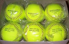 12 Dozen Leather Softballs 375/.47 Poly core Best Price Anywhere Factory Direct