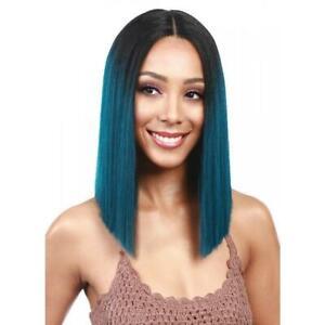 Bobbi Boss Premium Blunt Straight Synthetic Swiss Lace Front Wig - MLF136 Yara