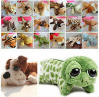 Cartoon Animal Plush Fluffy Pencil Pen Case Makeup Bag Coin Pouch Purse
