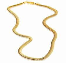Stainless Steel Tera Gold Colored Men's Necklace Snake Chain