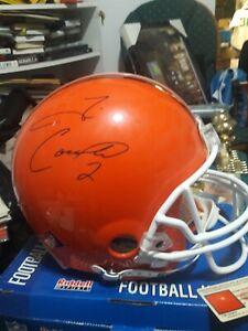 Tim Couch Signed Cleveland Browns Authentic Proline F/S Helmet Triumph GTSM