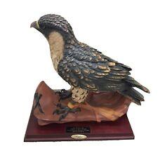 Montefiori Collection Hawk Falcon Bird In Gloved Hand Figurine Statue 19Lx17H