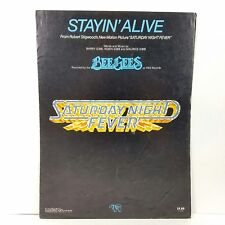 1977 The Bee Gees Stayin' Alive Sheet Music Saturday Night Fever Disco Dance