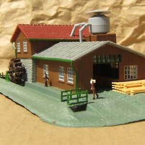 LIGHTED ~ SAWMILL ~ RETIRED by Model Power ~ Mayhayred Trains N Scale Lot