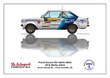 Greetings card Ford Escort RS 1800 MK2 #48 Morrée Scheffers Version 1
