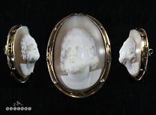 Victorian 14 Carat Gold / Zeus High Relief Shell Cameo Brooch