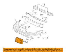 Oldsmobile GM OEM Front Bumper-License Plate Frame Bracket Holder Mount 22651140
