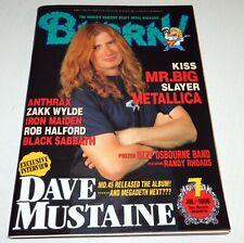 Burrn Japan Magazine 1996 Megadeth KISS Band Ozzy Randy Rhoads Poster Mr. Big