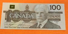 1x1988 Canada $100 Banknote Super Crisp Prefix: BJP, BJC and BJJ
