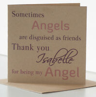 Personalised Birthday Card Special Friend, Best Friend. Thank you Angel card.