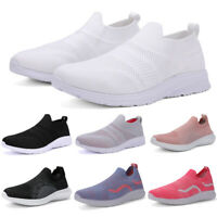 Women's Sneakers Outdoor Sport Running Breathable Mesh Walking Slip-On Shoes Gym