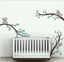 Cute Three Koala Tree Branch Vinyl Wall Paper Decal Art Sticker T51