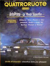 Quattroruote 426 1991 Anteprima La Panda Superfire. La Dedra integrale [Q.56]