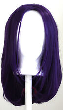 17'' Long Straight No Bangs Plum Purple Cosplay Wig NEW