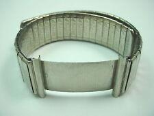 20mm Artyslip Mens Wrist Band Vintage Stainless Steel Adjustable Length NOS