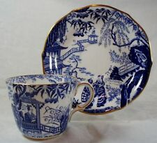 Royal Crown Derby Blue Mikado Cup and Saucer