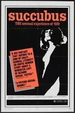 SUCCUBUS/NECRONOMICON original SEXPLOITATION poster JESS FRANCO one sheet 27x41