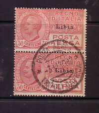 Lybia: 1928 -1929 Scott Cl pair used. LY04